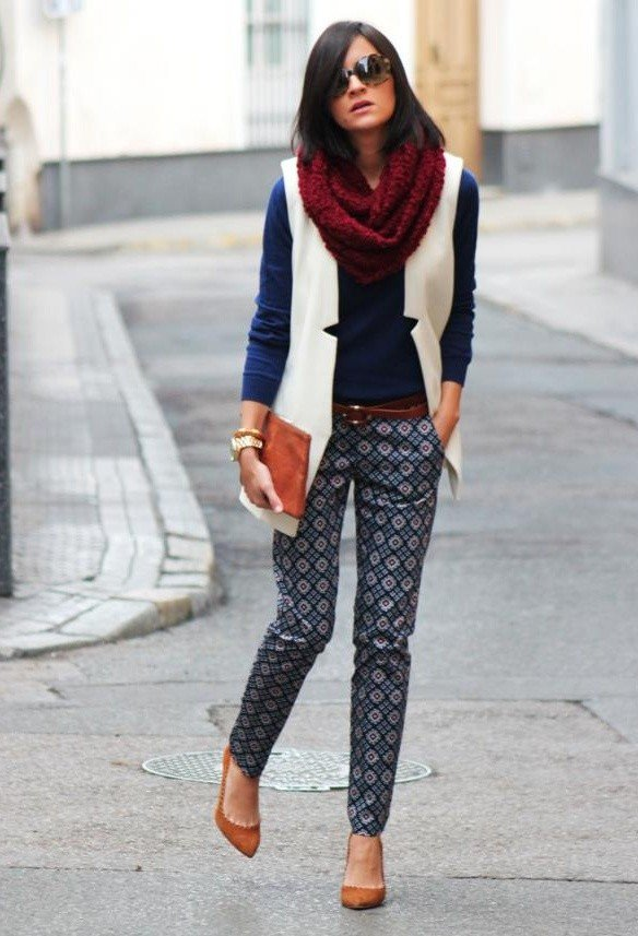 Casual-chic Outfit with A Scarf