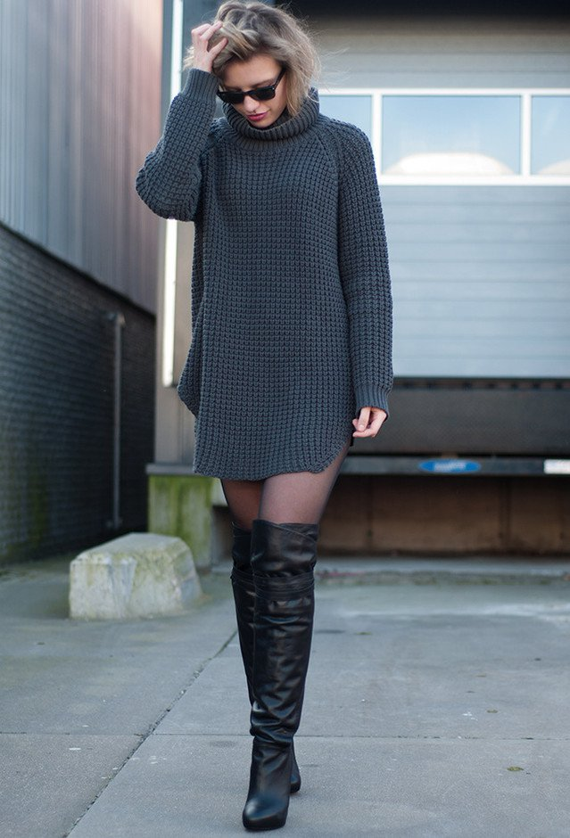 Fashionable Outfits with Over-knee Boots - Pretty Designs