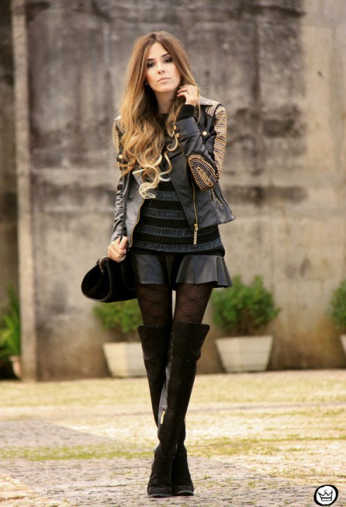 Chic Over-Knee Boots Outfit Idea for 2015