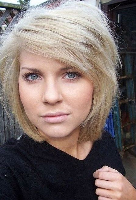 Chopped Short Hairstyle for Thick Hair