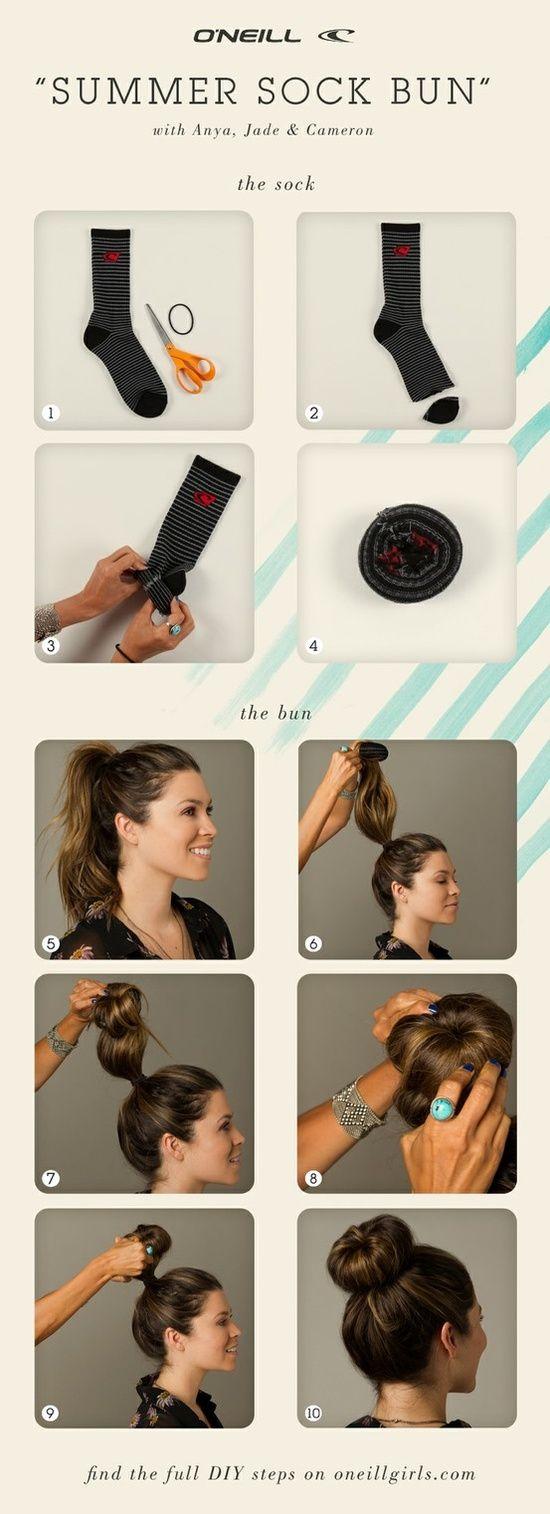 Как сделать бублик из волос пошаговое фото