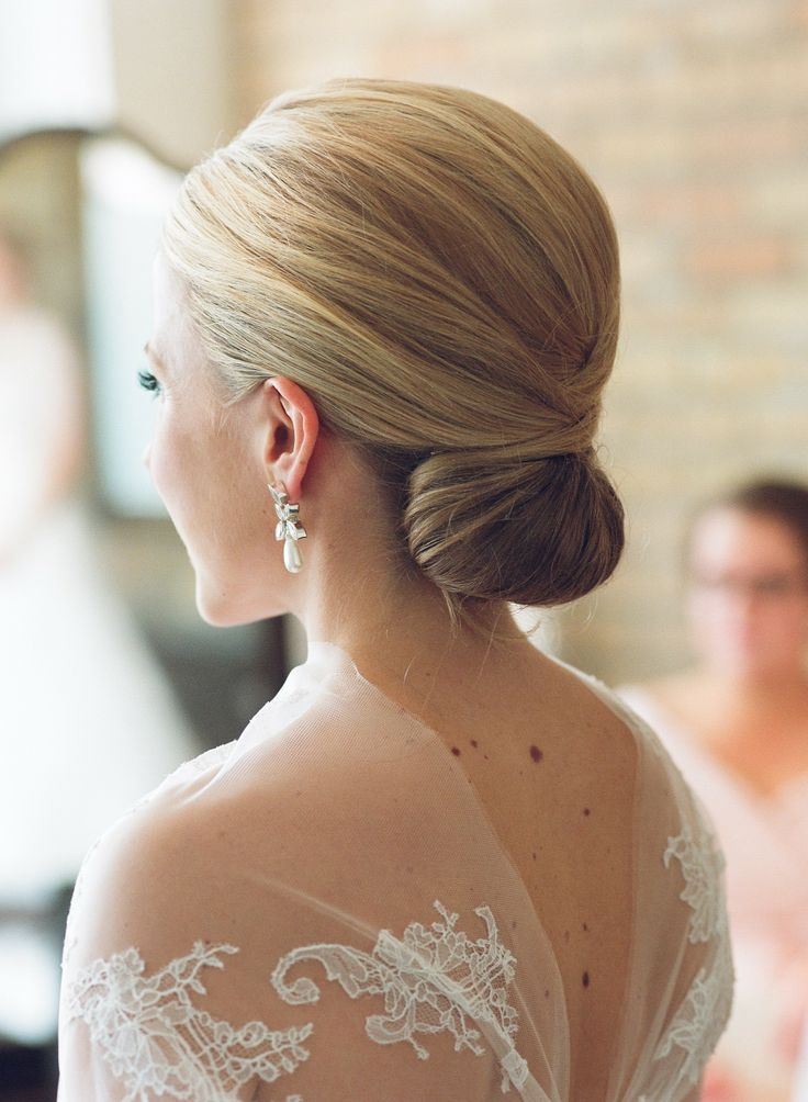 Classic Lower Updo Hairstyle for Wedding