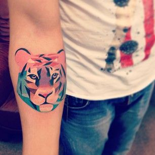 Colored Tiger Tattoo