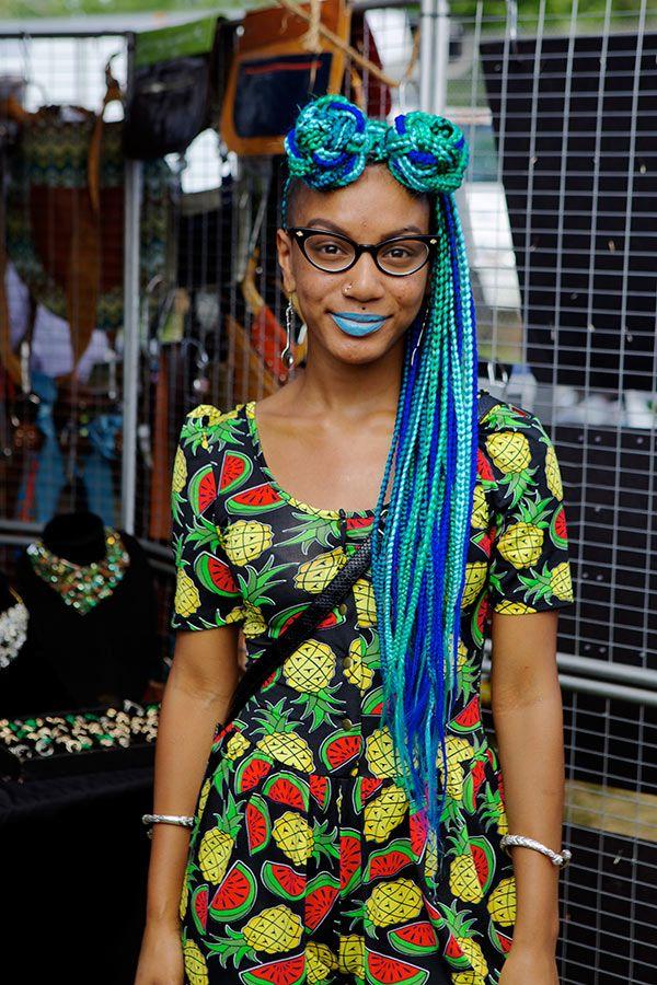 Creative African Hair Braiding Style