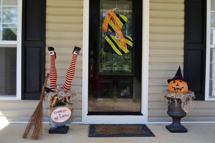 Creative Halloween Front Door
