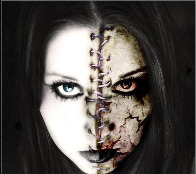 Creepy Makeup Look for Halloween