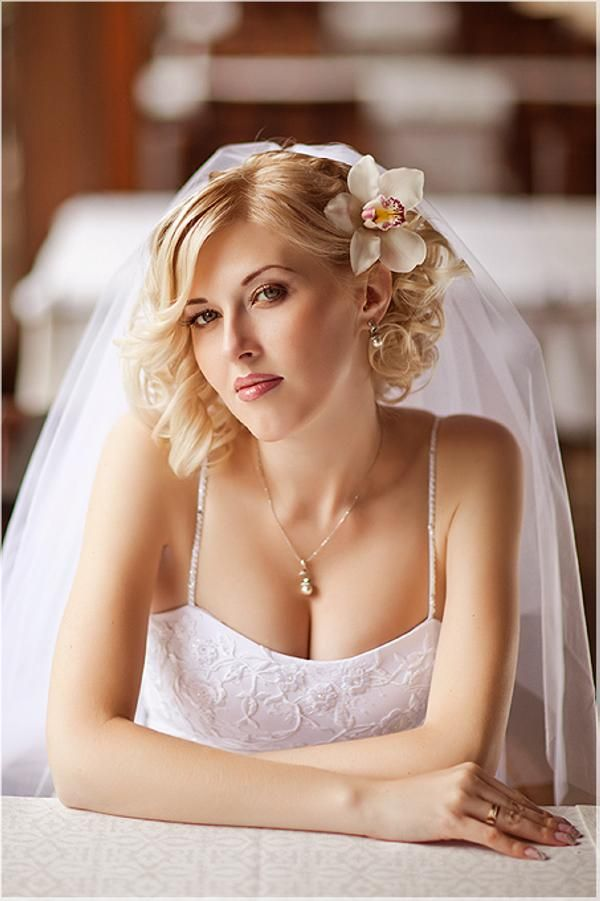 Curly Bob Wedding Hairstyle