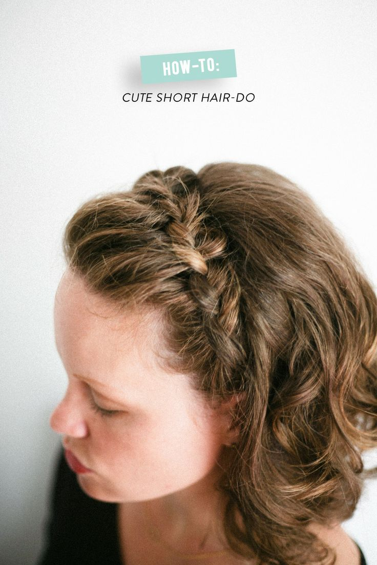 Cute Braid for Short Curly Hair