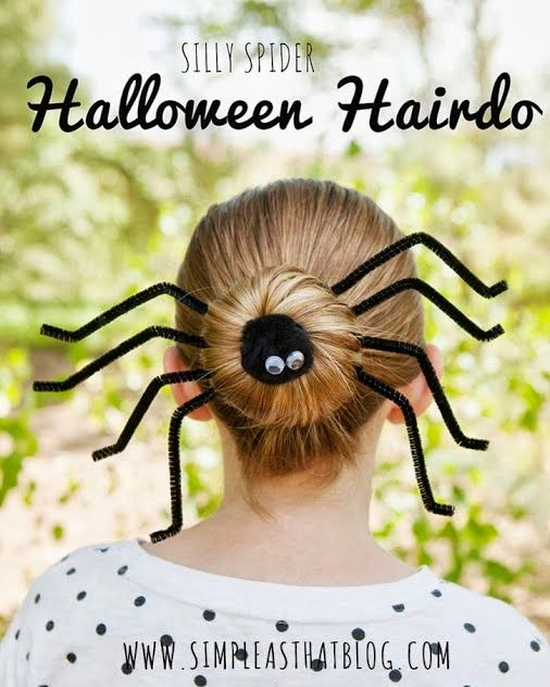 Cute Halloween Bun Hairstyle