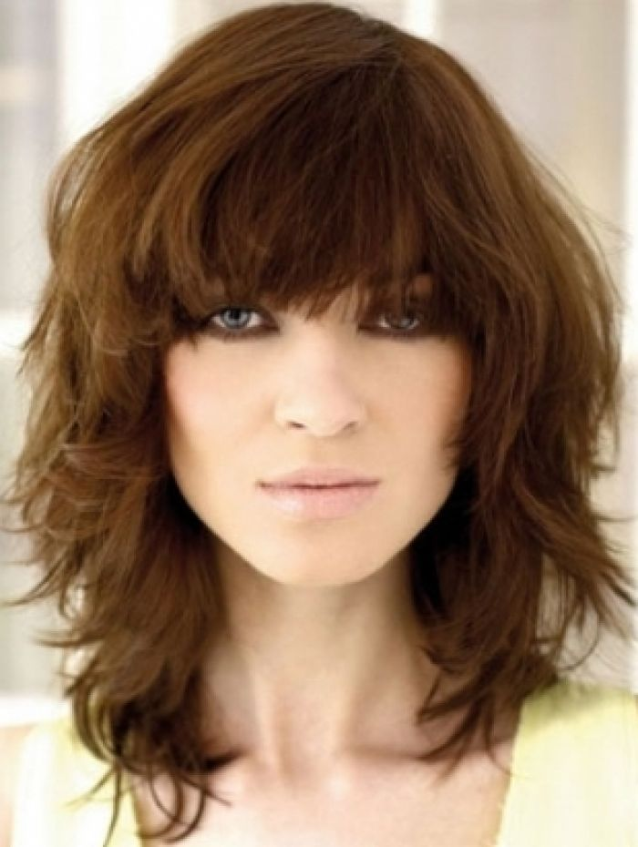 cute medium layered haircuts with bangs 13 fabulous medium hairstyles with bangs pretty designs 4290 | Cute Medium Hairstyle With Bangs