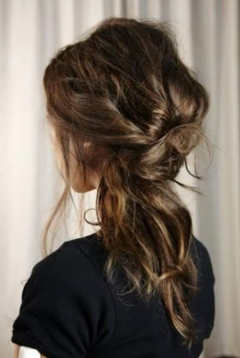 Cute Messy Updo for Girls