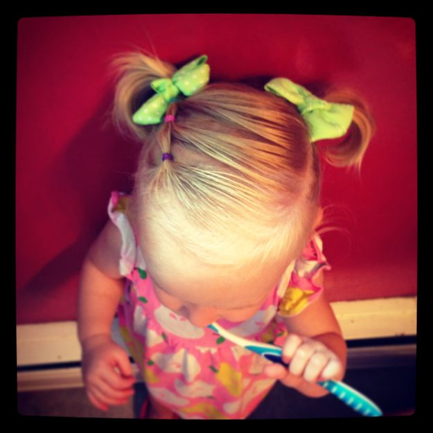 Cute Pigtail Hairstyle for Little Girls