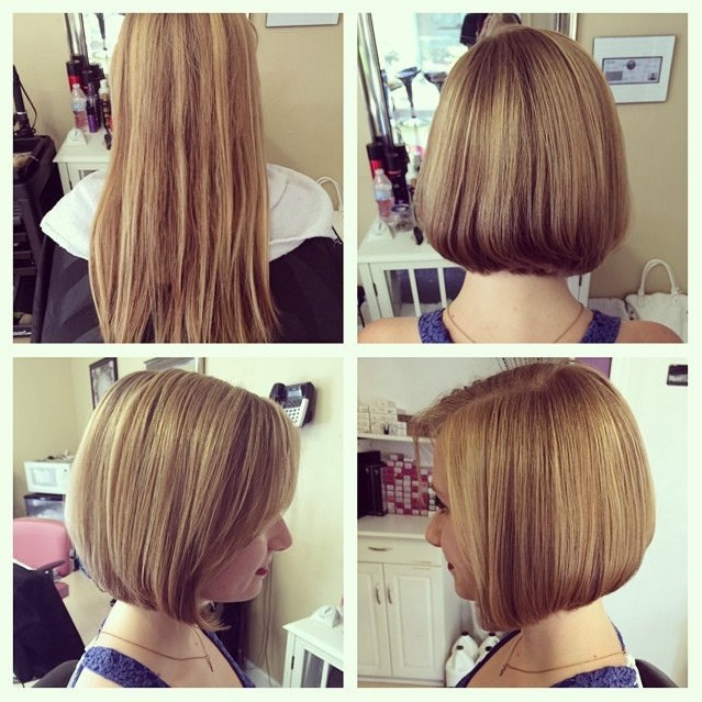 Cute Short Straight Bob Hairstyle for Girls