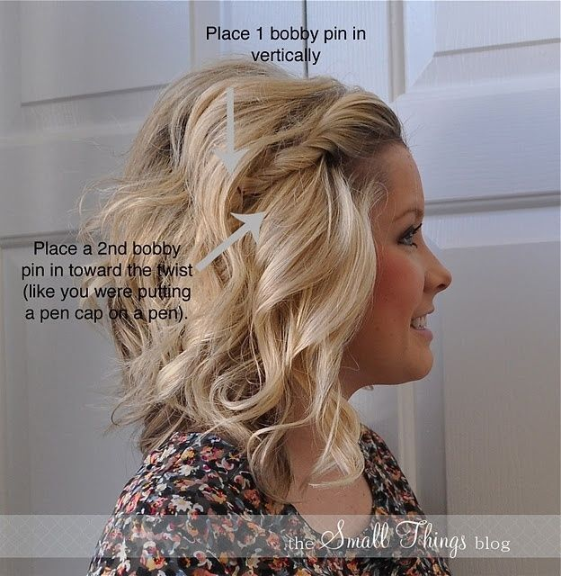 Cute Twisted Hairstyle for Medium Hair