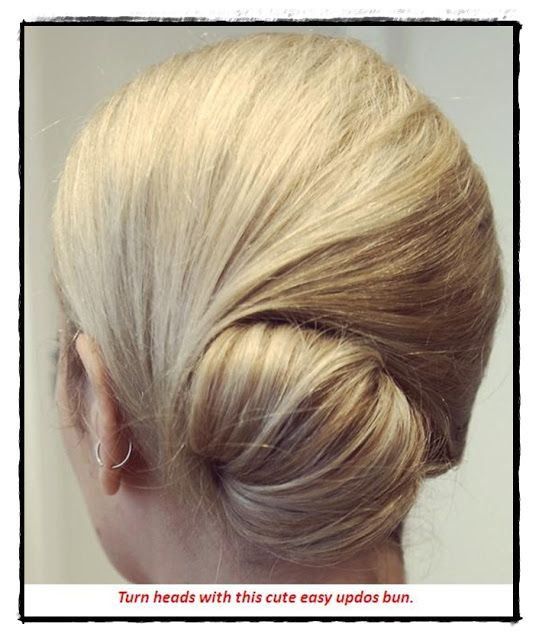 Cute Updo for Mid-length Hair
