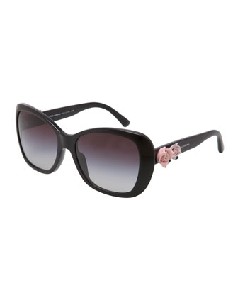 D&G Rose-Temple Sunglasses