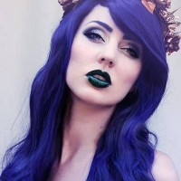 DIY Blue Colored Halloween Hairstyle