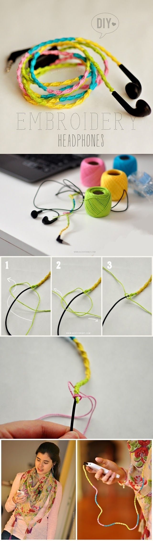 DIY Embroidery Headphones