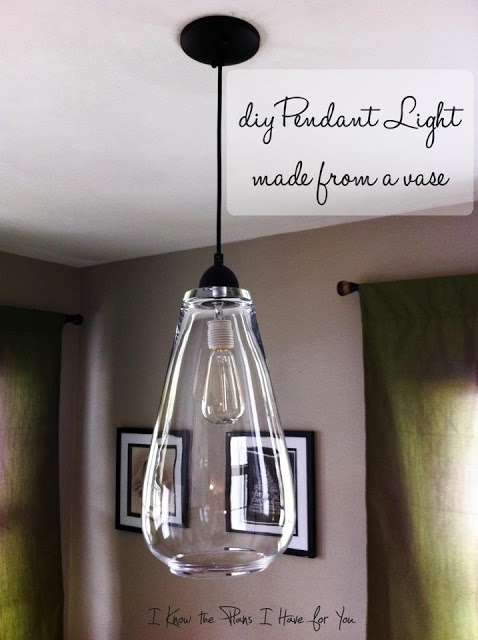 12 ideas for you to diy pendant lights pretty designs for Diy pendant light