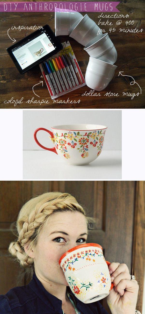 DIY Printed Mugs