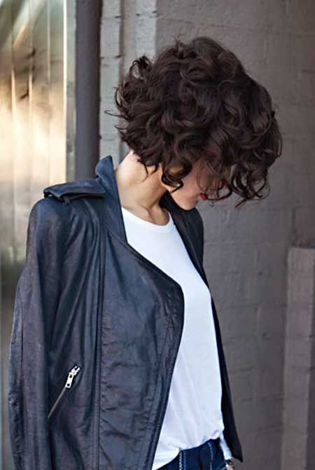 Dark Chocolate Short Curly Hairstyle