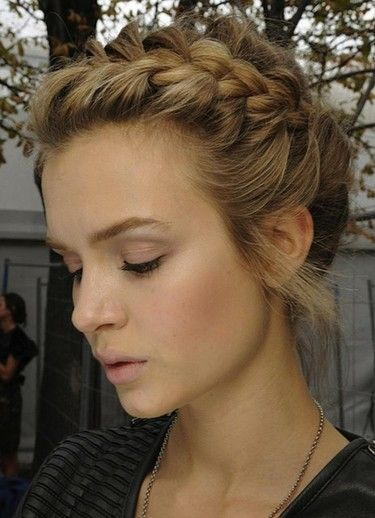 Dutch Braided Crown Hairstyle