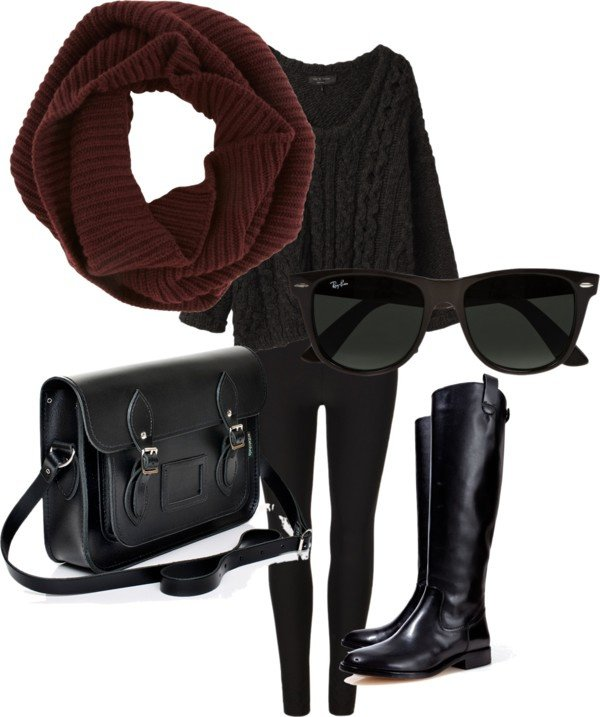 Early Winter Outfit Idea with Leggings