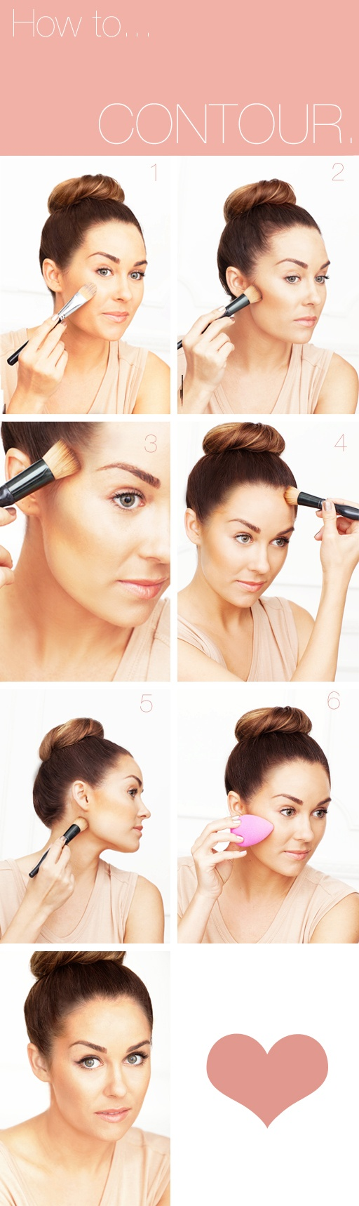 10 light contouring tutorials for every girl pretty designs easy contouring tutorial baditri Gallery