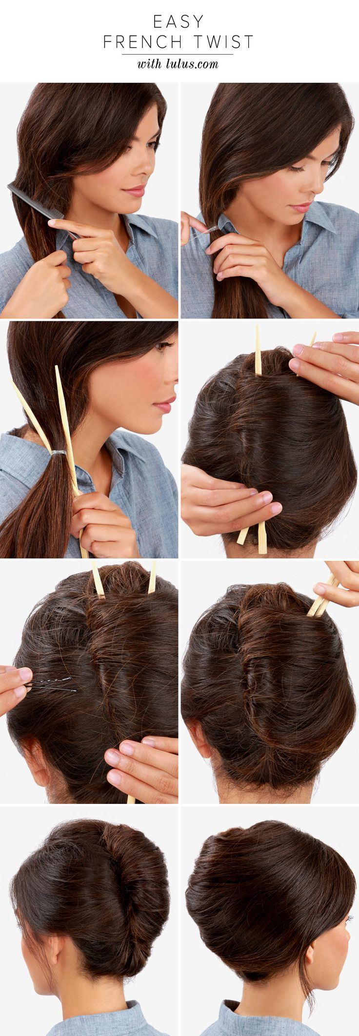Easy French Twist Updo