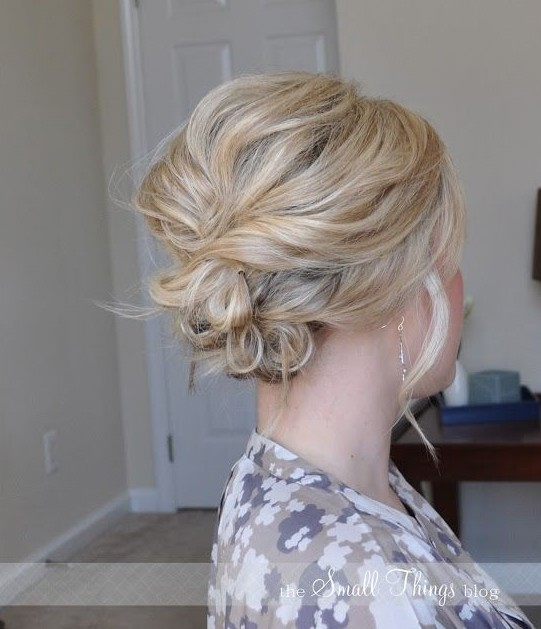 Hairstyles For Short Hair Upto Shoulders : 20 Gorgeous Messy Wedding Updos - Pretty Designs
