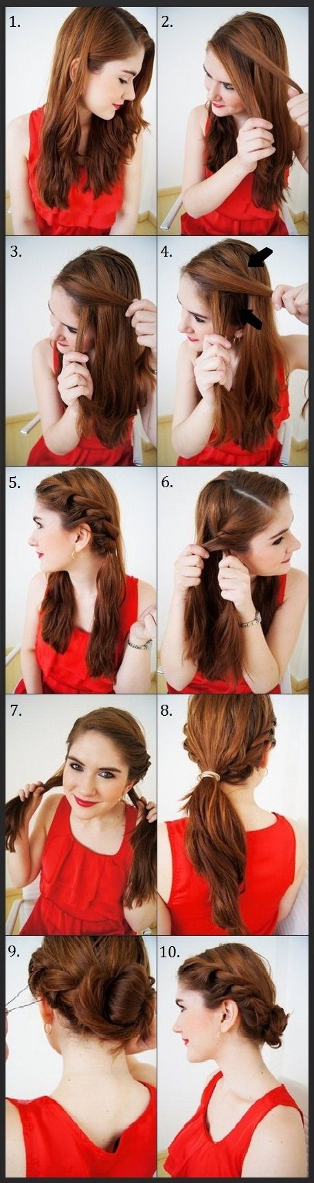 Красивые прически на средние волосы самому себе