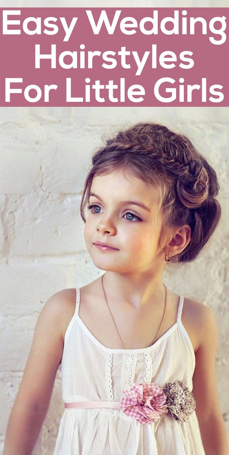 Easy Wedding Hairstyle for Little Girls