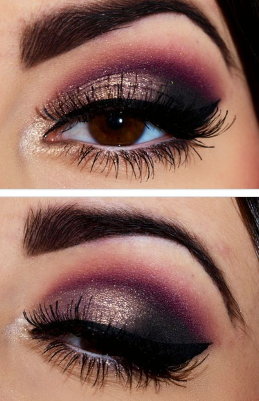 10 gold smoky eye tutorials for fall pretty designs - Definicion de glamour ...
