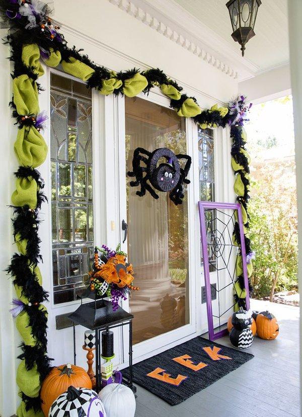 Elegant Halloween Front Door