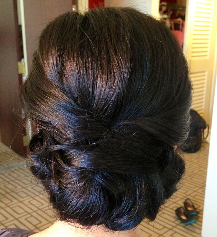 Elegant Wedding Updo for Asian Hairstyles