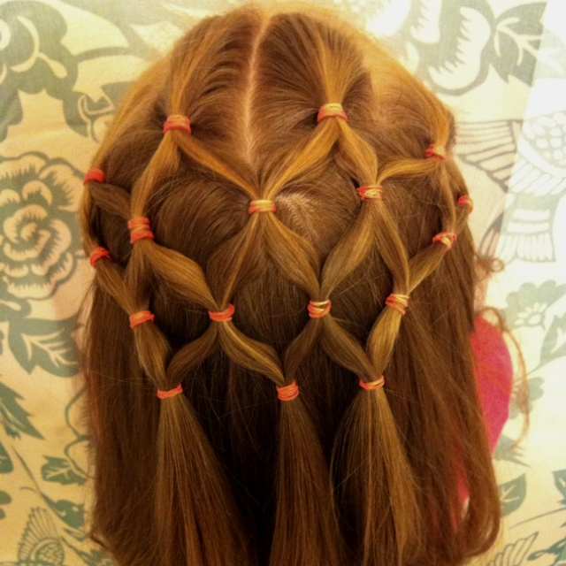 Fishnet Hairstyle for Little Girls