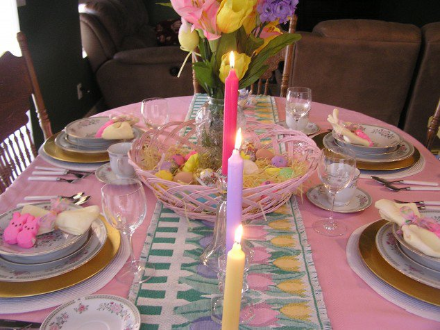 Flowers and Candles for Table Decoration