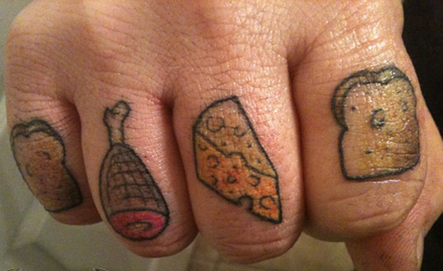 Food Tattoos on Fingers