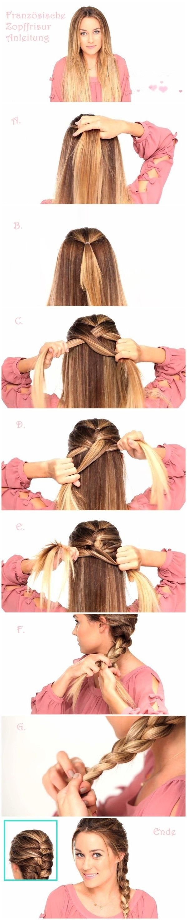 French Braid Tutorial for Long Straight Hair