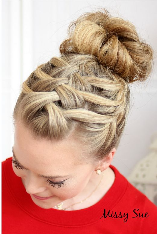 Amazing Lovely Bun Hairstyles With Braids 23 Along Inspiration Article