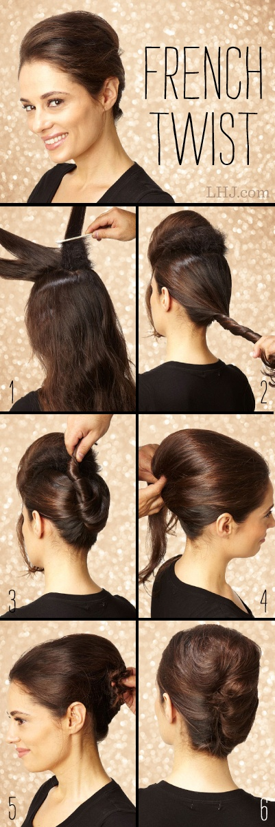 French Twist Updo Tutorial