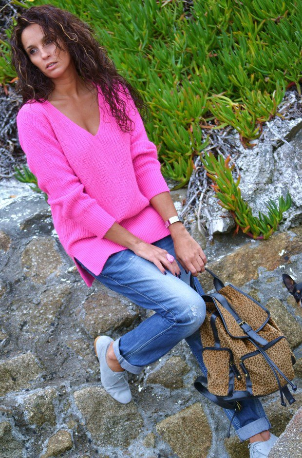 Fuchsia Sweater for Fall