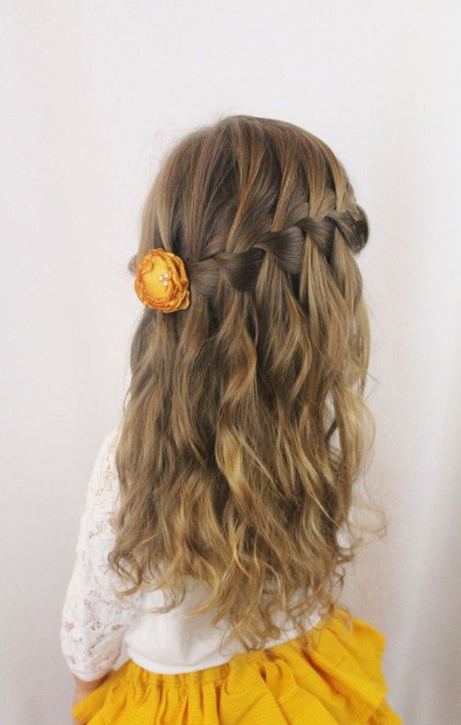 Fun Waterfall Braided Hairstyle for Little Girls