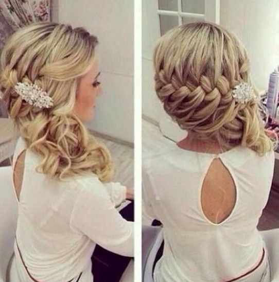 Nice Glamorous Bridesmaid Hairstyle For Long Hair
