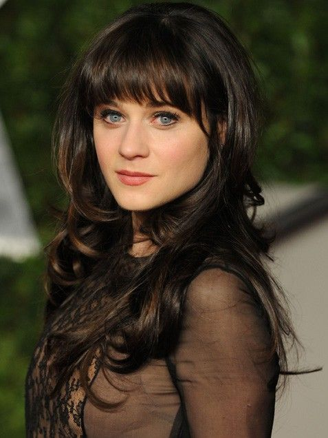 Glamorous Long Wavy Hairstyle With Bangs and Layers