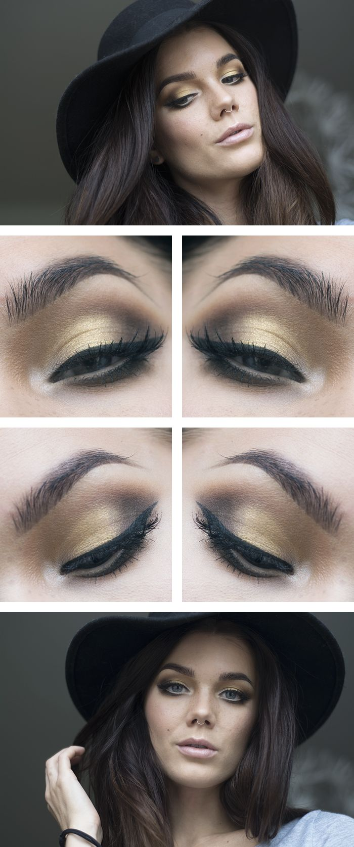 Golden Glossy Eye Shadow