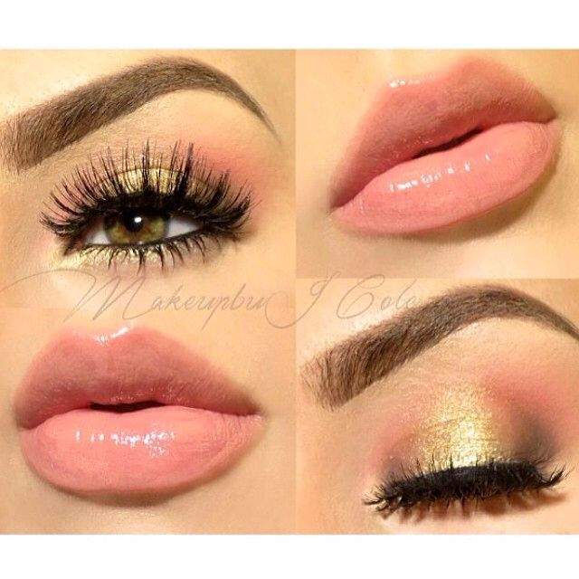 Golden Peach Eyeshadow and Peach Lips