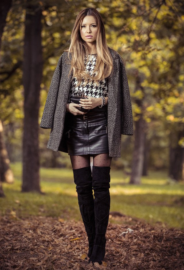fall 2015 fashionable outfits with overknee boots