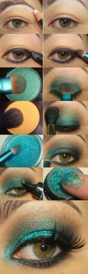 Green Glossy Eye Shadow
