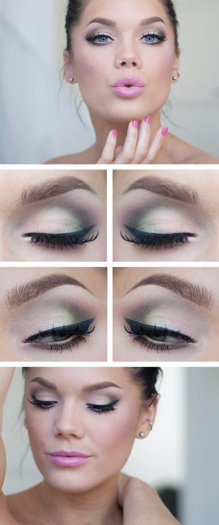 Green and Black Eye Shadow